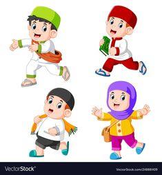 Muslim Kiddies Vector Images by hermandesign School Cartoon, Cartoon Kids, Cartoon Images, Kids Vector, Vector Free, Couple Musulman, Back To School Images, Sheep Cartoon, Sheep Vector