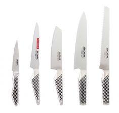 Global Knivsett 5 Deler Kitchen Knives, Design