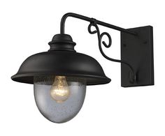 ELK Lighting 62001-1 Streeside Café One Light Outdoor Sconce In Matte Black
