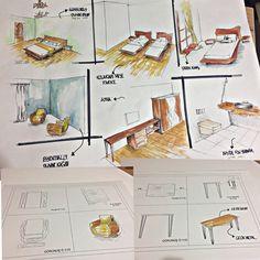 #sketch #architecture interior design detail of furniture