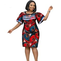 Women African Wax Print Dashiki Ankara Plus Size Style Dress Source by dresstheladies Dress Outfits, Fashion Dresses, Dashiki Dress, Office Dresses, Ankara Styles, African Dress, African Fashion, Plus Size Fashion, Wax