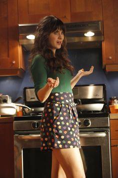 Jess (Zooey Deschanel) ~ New Girl Episode Stills ~ Season 1, Episode 5: Cece Crashes #amusementphile