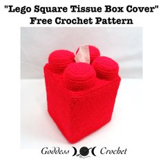 Free Crochet Pattern - Lego Tissue Box Cover