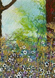 "LAST WEEK OF SALE - ACEO Original ""Floral Display"" Painting By Hélène Howse  #ACEOartcards"