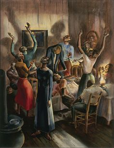 """christel-thoughts: """" Charles Alston - Midnight Vigil Charles Alston was an educator and artist that came to prominence during the Harlem Renaissance. I had never heard of him before today. African American Artist, American Artists, African Art, Black Art Painting, Black Artwork, Charles Alston, Harlem Renaissance Artists, Black Artists, Art History"""