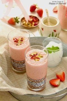 Strawberry & Rose Lassi