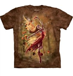 Autumn Fairy Adults T-Shirt by Anne Stokes : The Mountain - 2017 Collection : T-Shirtsauce Australia: The Mountain T-Shirts Anne Stokes, Autumn Fairy, World Famous Artists, Color Depth, Create Photo, Unisex, Wearable Art, Tee Shirts, Fantasy