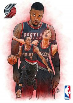 (Northwest) Portland Trail Blazers - My Wallpaper I Love Basketball, Basketball Posters, Basketball Leagues, Basketball Pictures, Basketball Teams, Nba Pictures, Basketball Photography, Baskets, Nba Wallpapers