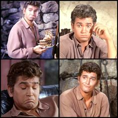 The four faces of Little Joe Cartwright. I used to have the biggest crush on him.