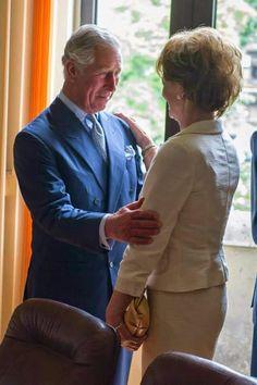 Prince Charles and his 4th cousin, Princess Margarita of Romania, daughter of King Michael II.