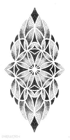 Pin by donna cook on pointillism Dotwork Tattoo Mandala, Geometric Mandala Tattoo, Geometric Tattoo Design, Mandala Tattoo Design, Tattoo Designs, Dot Work Mandala, Geometric Tattoos Men, Tattoo Ideas, Design Tattoos