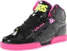 Osiris Women's Nyc 83 Slm Skate Shoe,Black/Yellow/Zebra