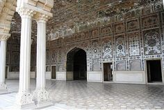 'Sheesh Mahal' (Palace of Mirrors) at Lahore Fort, built by Mughal emperor Shah Jehan.