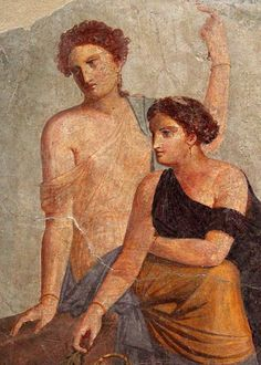 Ancient History Painting - *POMPEII, ITALY ~ around AD Fragment of wal painting, Bacchus cult scene? (Fragment of mural) Ancient Pompeii, Pompeii And Herculaneum, Ancient Art, Ancient History, Classical Antiquity, Classical Art, Roman History, Art History, Rome Painting