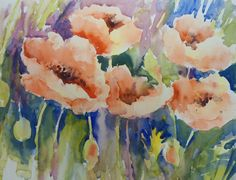 Loose Watercolour Floral Lesson: Poppies by Joanne Thomas at ArtTutor ...
