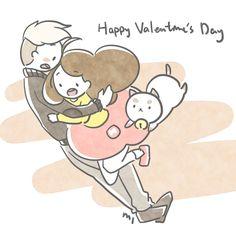 Happy Valentine's Day Bee and Puppycat