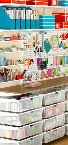 Beautifully organized craft room