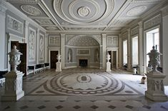 The Entrance Hall in Osterley House by Maxwell Hamilton, via Flickr--I added some Blue John stone to the floor in Never Envy an Earl.