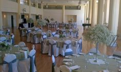 Kimball ballroom looks so pretty! Allen's Flowers, Inc Columbia, MO #wedding #weddings #reception #centerpieces #bouquet #ceremony