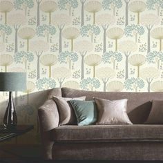 Arthouse Wallpaper | Bernwood - Teal | Lancashire Wallpaper and Paint