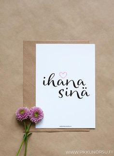 Ihana sinä Birthday Greetings, Birthday Cards, Happy Birthday, Inspiration Wall, Motivation Inspiration, Finished Quotes, Dream Book, Happy Day, Handmade Art