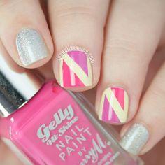 Nail Art: 80's Geometric Brights