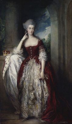 Anne, Duchess of Cumberland wears robes of State c.1775. Such fantastic texture! By Gainsborough