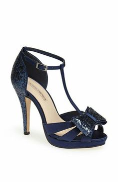I love the navy blue color of these shoes & the lace is gorgeous ...