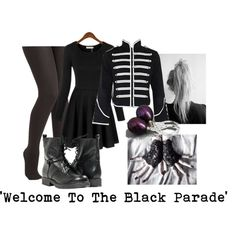 """""""'Welcome To The Black Parade'"""" by izzy-the-demigod on Polyvore"""