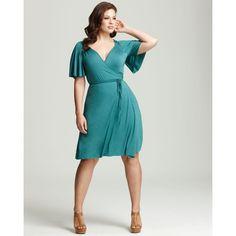 Rachel Pally White Label Plus Size Finn Flutter Wrap Dress