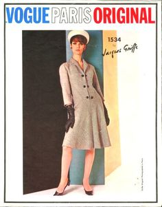 1960s Vintage VOGUE Sewing Pattern B36 DRESS (1696) By JACQUES GRIFFE #VogueBYJACQUESGRIFFE