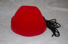 Red vintage velvet womans hat by thevintage1322 on Etsy, $14.99