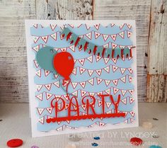 Simply Creative Make a Wish Party card by DT member Lyndsey