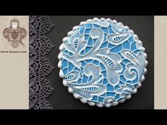 Cookie decorating with royal icing. Lace Cookie. How to make royal icing lace on a sugar cookie. - YouTube