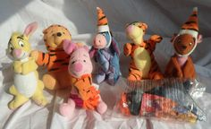 7 Winnie the Pooh Tigger Movie McDonalds Happy Meal Soft Toys - April 2000