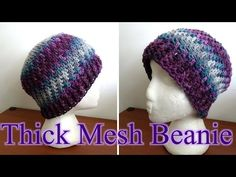 Make an Easy #Crochet Slanted Puff Stitch hat - Ice Yarns - YouTube