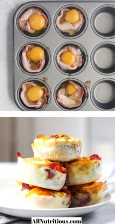 Easy Egg Breakfast, Egg Recipes For Breakfast, Low Carb Breakfast, Brunch Recipes, Bacon Recipes For Dinner, Breakfast Cups, Easy Egg Recipes, Low Carb Recipes, Cooking Recipes