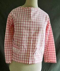Jantzen-Gingham-Pink-Buffalo-Check-Baby-Doll-Lace-12-NOS-DEADSTOCK-Vintage-50s