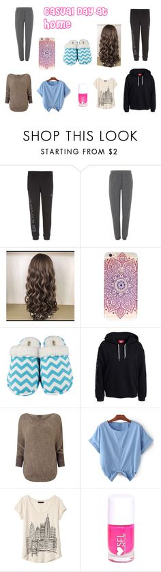 """""""Casual Day at Home"""" by milgatem on Polyvore featuring Under Armour, Armani Jeans, Leisureland, Phase Eight and Banana Republic"""