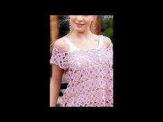 Hermosas blusas tejidas a crochet - YouTube