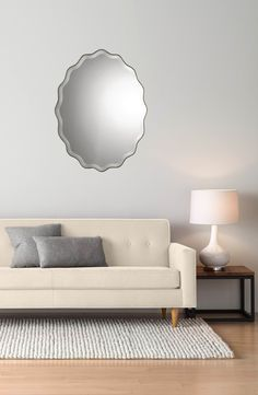 Main Image - Uttermost 'Teodora' Ruffle Edge Mirror