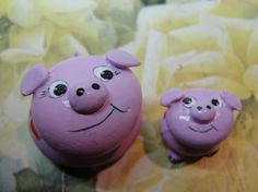 PIG ROCK Animals Pet rocks handpainted Pink art OOAK
