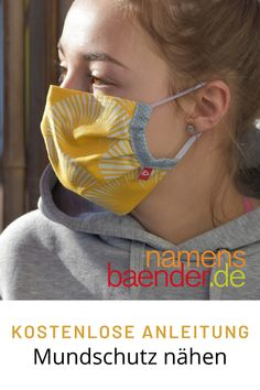 Sewing mouthguard - free instructions , A mouthguard can not only help with allergies, but can also reduce part of the droplet infection, especially in the corona crisis. Note: It is not Diy Mask, Diy Face Mask, Sewing Patterns Free, Free Sewing, Pattern Sewing, Bunny Love, Techniques Couture, Mouth Guard, Pocket Pattern