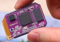 Onion Omega Board Hardware Specs. This board is powered by a 400MHz processor paired with 64MB DDR2 and 16MB of internal storage. The Omega also features 802.11 b/g/n wireless connectivity and it has 16 GPIO ports.