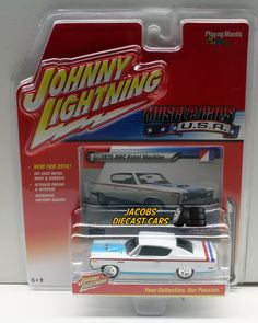 1:64 JOHNNY LIGHTNING MUSCLE CAR U.S.A. RELEASE 1B - 1970 AMC REBEL MACHINE #JohnnyLightning #AMC