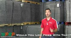 """#MaterialHandling J&L Wire Products via our video mini-series """"Would You Like Fries with That"""" featuring Joshua Smith and Linda Anlauf. At WPRP Our Goal is to Help You, and in this video Josh will review the four key product features of J&L Wire Decking for Pallet Rack Systems.  http://www.wprpwholesalepalletrack.com"""