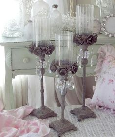 Browsing for vintage decor and I come across these candle holders for a set 189.95 I bought one awhile back for 14 bucks at home goods <3.