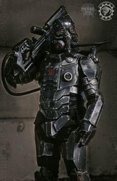 The Panzersoeldner - light up dieselpunk armor by TwoHornsUnited.deviantart.com on @DeviantArt
