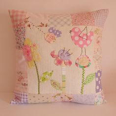 Cushion flowers bee bird by Roxy Creations, via Flickr