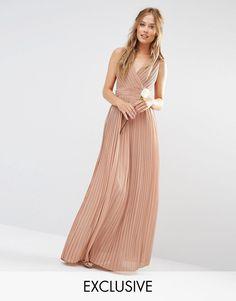 TFNC+WEDDING+Pleated+Wrap+Maxi+Dress